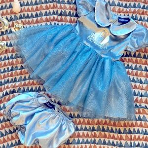 Cinderella Dress with Bloomers, 18 months, blue